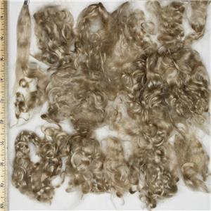 "color 630 HS brown fine curly angora goat mohair doll hair 1 oz 3-5"" 26762"