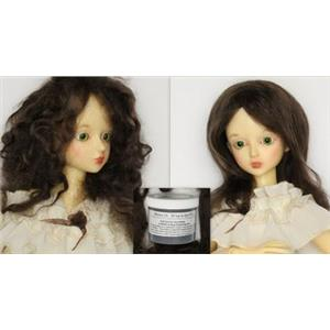 Brown 2A Wig making dye Jar, to Dye 2 lb. mohair