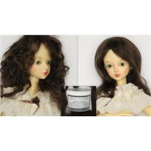 Brown 2A Wig making dye Jar,will Dye 5 lb mohair