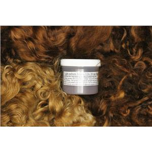 light auburn Brown 12 Wig making dye Jar, to Dye 2 lb. mohair