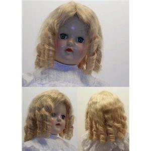 "Mohair Wig sausage curls hand sewn blonde sz 9 ""  11994"