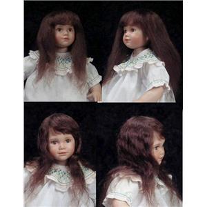 "Mohair Wig center crown bangs  brunette sz 5"" 11325"