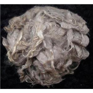Mohair bulk yearling/fine adult lt silver gray 11977