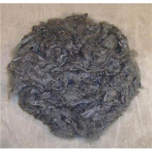1 oz dyed soy silk fiber medium gray 22525