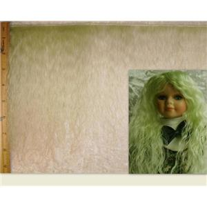 "mohair weft long pastel green 6-8"" 2 yd doll hair 22814"