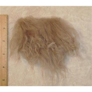 smoked beige Gray tibetan lambskin scrap sample  23207
