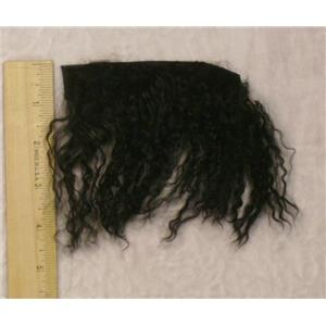 Black curly tibetan lambskin sample 23442