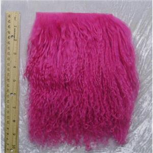 "3 ""sq fuschia 2 tibetan lambskin doll hair Seam 23875"