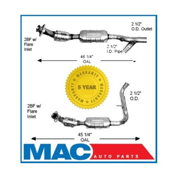Catalytic Converter Driver Passenger 01-02 Ford Expedition Lincoln Navigator 5.4