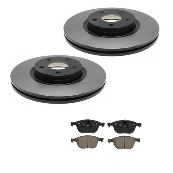 C30 C70 S40 V50 2 300MM 11 7/8 Frt  Brake Rotors & Ceramic Pads 34364 CD1044