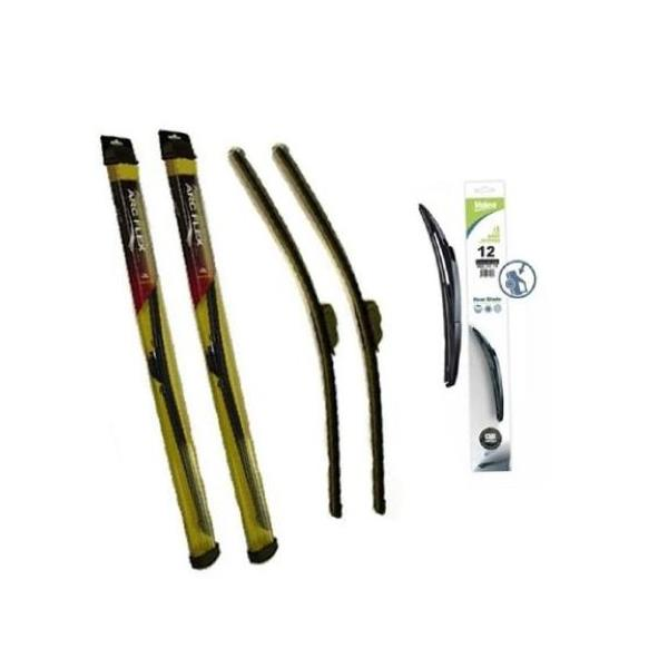 2010-2012 Insight  Front & Rear Saver Brand Wiper Blades 3 Pc Kit