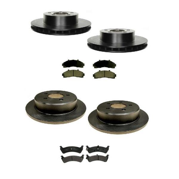 95-2001 Explorer 4 Door Wheel Drive Brake Rotors & Ceramic Pads 2 Brake Pad Sets