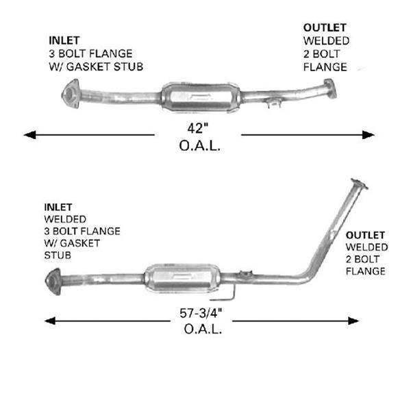 2001-04 Sequoia L/R Catalytic Converter Kit 9134 9135