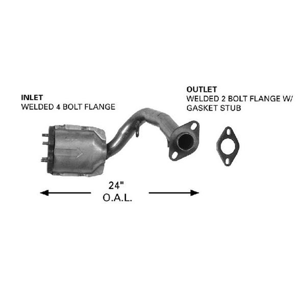 CATCO 4067 Direct Fit Catalytic Converter W/ Eng Pipe  88-90 CRX 1.5L