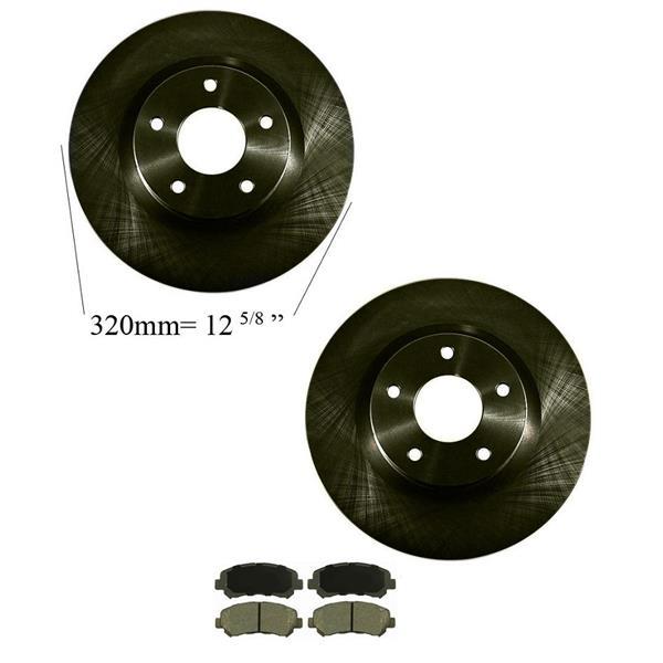 2007-2008 Sentra SER Spec V Front Brake Rotors Ceramic Pads 31513 CD1338
