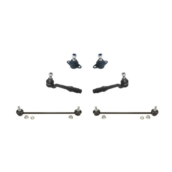 00-03 BMW X5 E53 Lower Ball Joints Tie Rods and Sway Bar Links 6Pc Kit