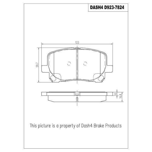Brake Pad-Ceramic Brake Pads Front Dash 4 Brake CD923 For VIBE MATRIX COROLLA