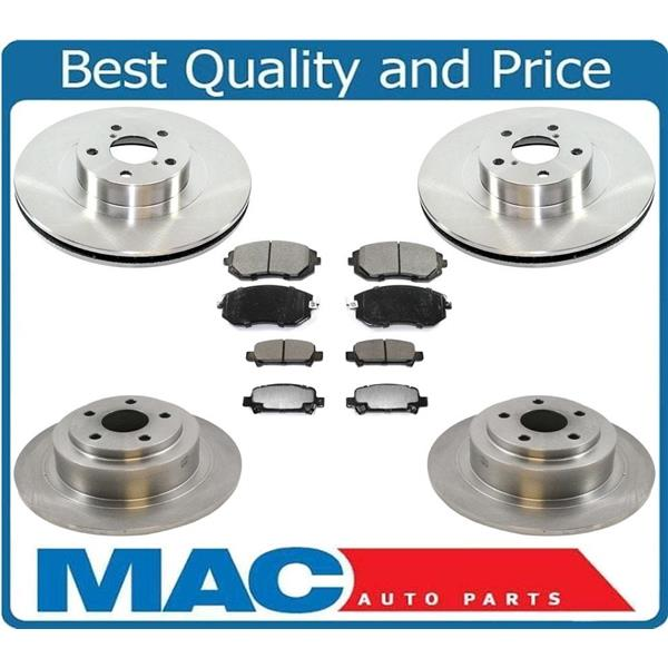 Fits For 03-06 Baja Front & Rear  Brake Disc Rotors With Ceramic Pads