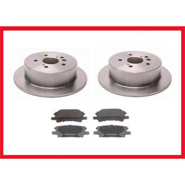 Toyota Highlander 4X2  (2) Rear  Brake Rotors & Metallic Rear Brake Pads