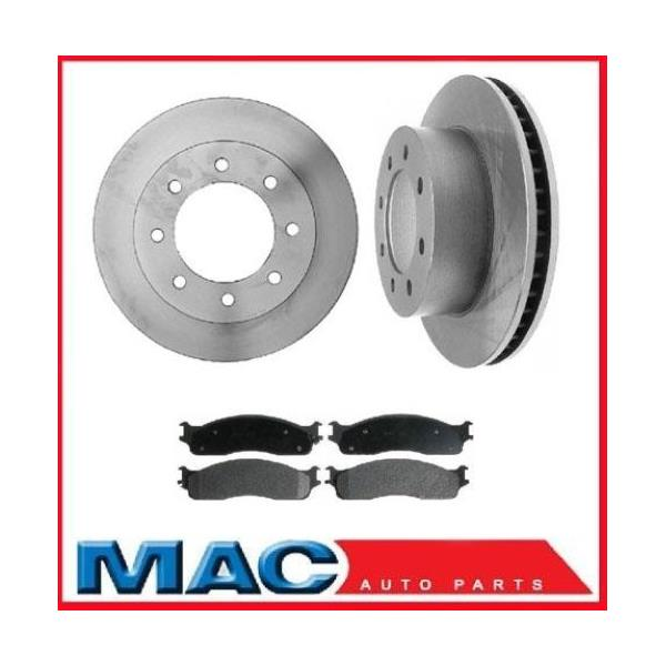(2) 8 Stud 53012 Disc Brake Rotor - Brake Rotor, Front With MD965 Brake Pads