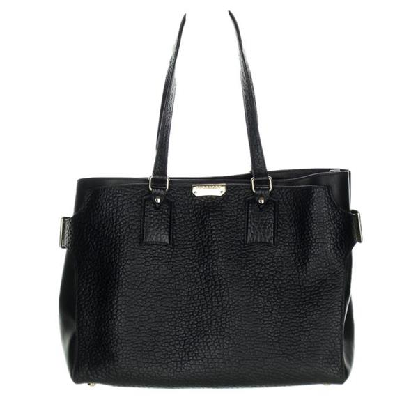 616cce32cc Burberry Large Pebble Clarborough Grained Leather Tote Bag Black . Finds  For You