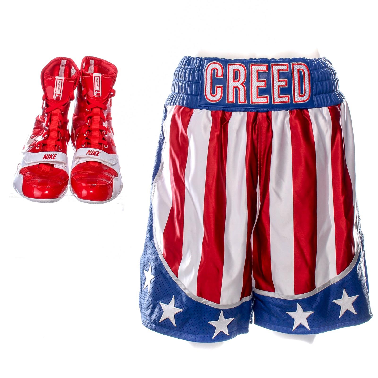 Details about Creed 2 Adonis Creed MIchael B Jordan Screen Worn Shorts  Boxing   Shoes Ch 18 4e38a8b658a3