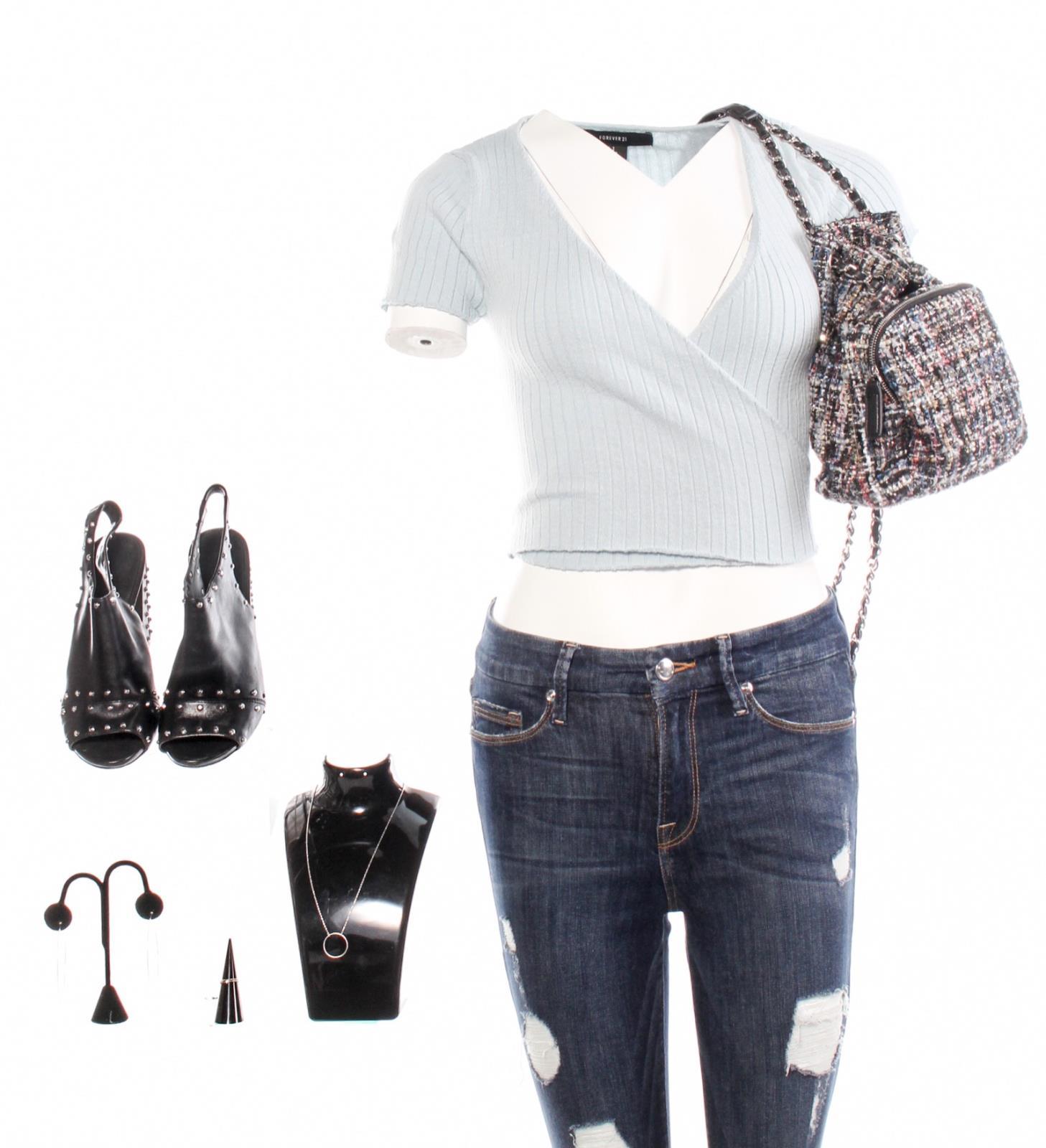 0c599b4eb988 Details about LA To Vegas Nichole Olivia Macklin Screen Worn Shirt Pants  Purse   Shoes Ep 113
