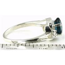 SR176, London Blue Topaz, 925 Sterling Silver Ring