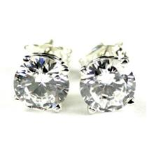 Cubic Zirconia, 925 Sterling Silver Earrings, SE012