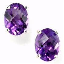 SE002, Amethyst, 925 Sterling Silver Earrings