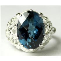 SR260, London Blue Topaz 925 Sterling Silver Ring