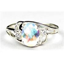 SR176, Mercury Mist Topaz, 925 Sterling Silver Ring