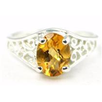 Citrine, 925 Sterling Silver Ring, SR005