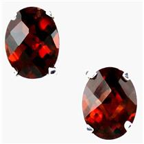 SE002, Mozambique Garnet, 925 Sterling Silver Earrings