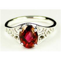 Crimson Fire Topaz, 925 Sterling Silver Ring, SR005