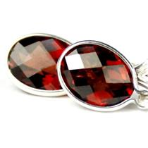 SE001, Mozambique Garnet, 925 Sterling Silver Earrings