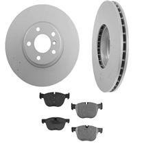 121.34095 R34095 BR900940 (2) 345MM 13 5/8 Inch Rear Disc Brake Rotor & Pads