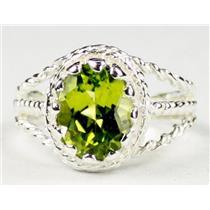 Peridot, 925 Sterling Silver Ring, SR070