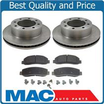 (2) Front Brake Rotors & Brake Pads 2011-2012 F250 F350 SRW Super Duty 4x4