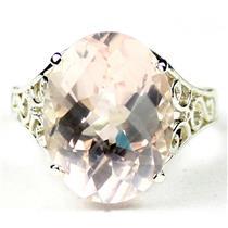 SR049, Rose Quartz, 925 Sterling Silver Ring