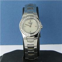 Tissot T64168681 T-Round Full Diamond (34) Bezel MOP Ladies Watch NWOT $1125