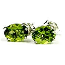 SE002, Peridot, 925 Sterling Silver Earrings