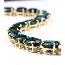 B003, London Blue Topaz Gold Bracelet