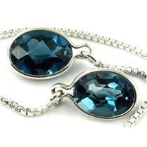 SE005, London Blue Topaz, 925 Sterling Silver Earrings