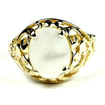 Mother of Pearl, Gold Ring, R004
