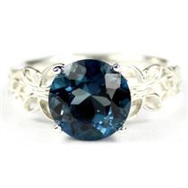 SR292, London Blue Topaz, 925 Sterling Silver Ring