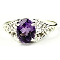 SR305, Amethyst, 925 Sterling Silver Ring