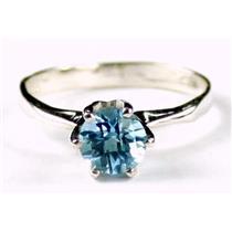 SR311, Swiss Blue Topaz, 925 Sterling Silver Ring