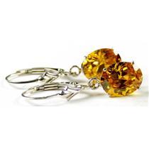 SE107, Golden Yellow  CZ, 925 Sterling Silver Earrings
