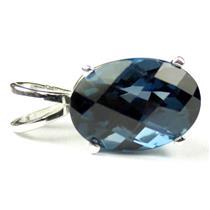 SP006, London Blue Topaz 925 Sterling Silver Pendant